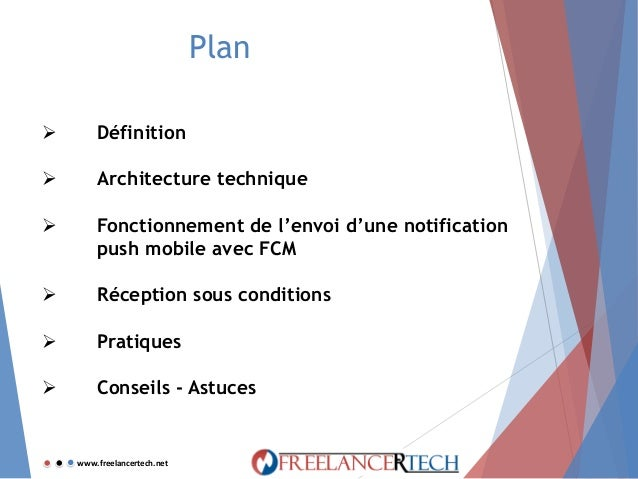 Intégration d'un système de Notifications Push dans une app Android via Google Firebase Cloud Messaging (FCM) et un serveur LAMP Slide 3
