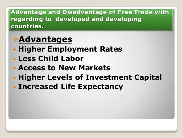 advantages and disadvantages of free market