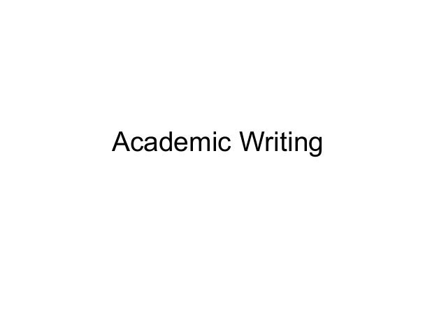academic writing and presentation skills