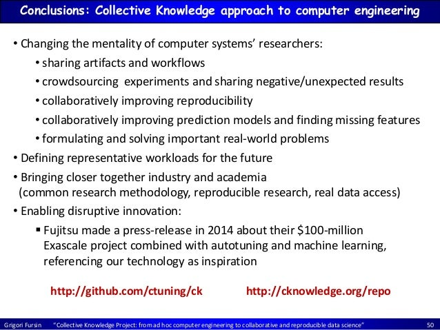 """Grigori Fursin """"Collective Knowledge Project: from ad hoc computer engineering to collaborative and reproducible data scie..."""