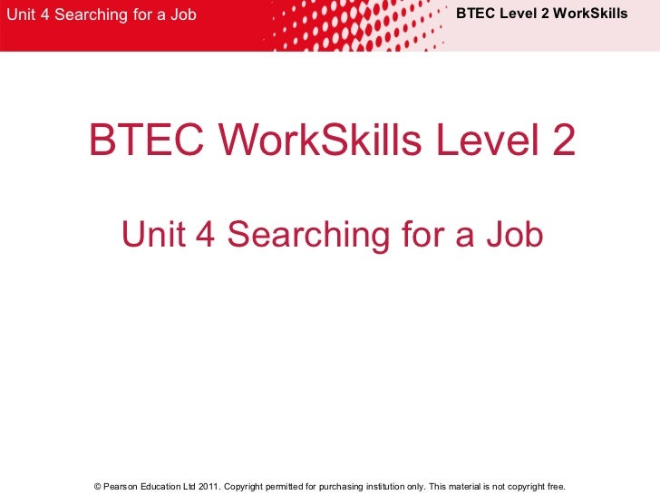unit 10 workskills Skills for work 17 typically 1 unit = 10 hours edexcel workskills suite the planned suite will consist of up to 30 stand-.