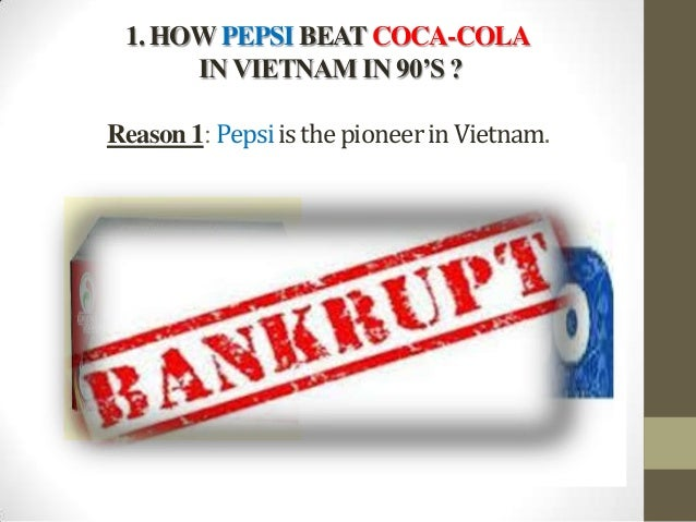 disadvantages of pepsi For over a hundred years, pepsi has been trying to play catch-up in the cola beverage market, but first mover coca-cola continues to dominate the market in 2014 first-mover: advantages, disadvantages & examples related study materials related recently updated popular browse by courses.