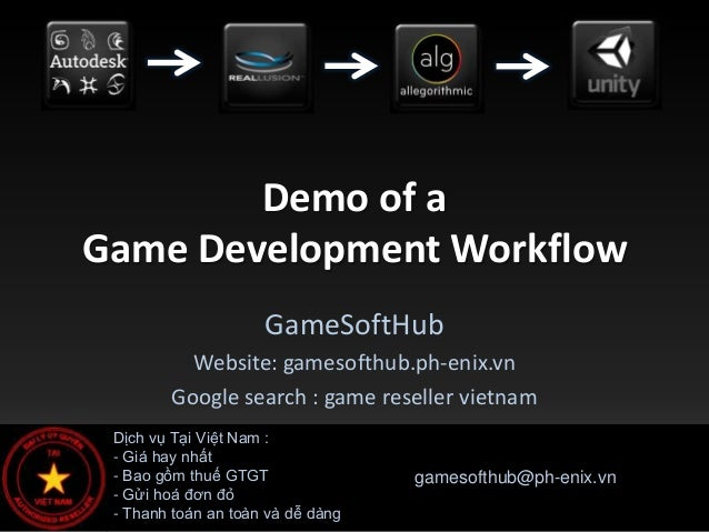 Demo of aGame Development Workflow                     GameSoftHub          Website: gamesofthub.ph-enix.vn        Google ...