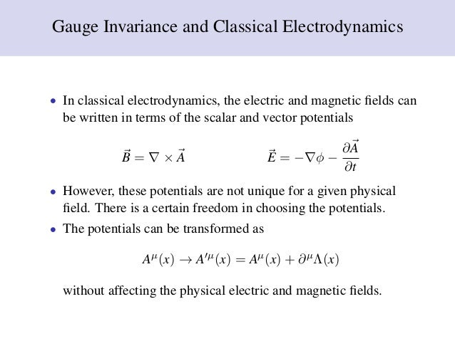 Presentation gauge field theory