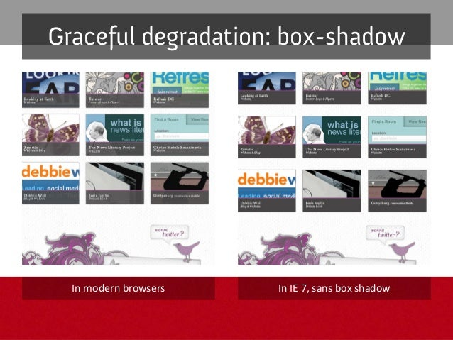 """Full solution: text-shadow .textshadow h2 { text-shadow: 1px 1px 2px rgba(48,80,82,0.8); -ms-filter: """"progid:DXImageTransf..."""