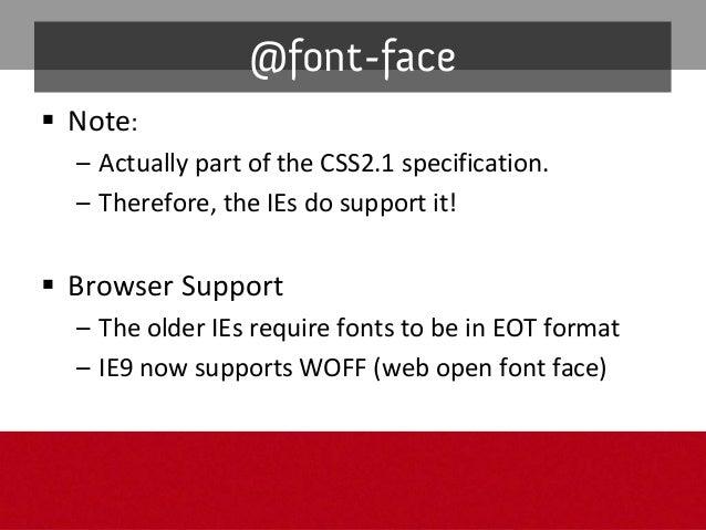 """@font-face bug: Webkit @font-face boldanditalics""""bug"""" Theproblem: Applyingfont-weight:bold or font-style: italic to@..."""
