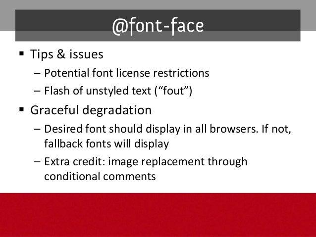 Full solution: @font-face @font-face { font-family: 'Colaborate Light'; src: url('ColabLig.eot'); } @font-face { font-fami...