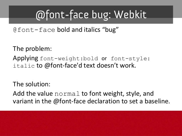 Inmodernbrowsers InIE8withfallbackfont Graceful degradation: @font-face