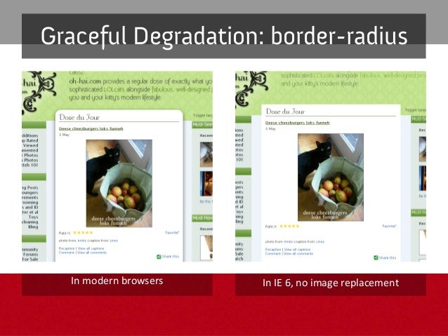 opacity Tips&issues – Donotuseonelementsthatwouldcover importantcontent GracefulDegradation – Acceptthateffe...
