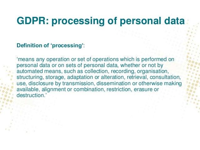 Seminar General Data Protection Regulation