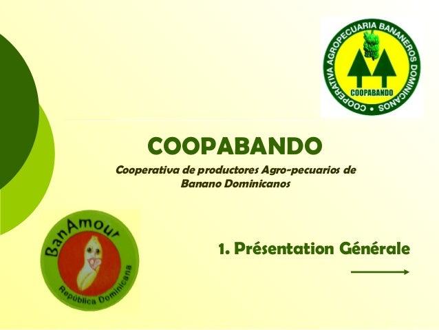 COOPABANDO Cooperativa de productores Agro-pecuarios de Banano Dominicanos 1. Présentation Générale