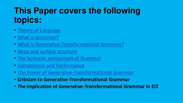 Linguistic performance and competence essay