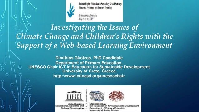 Investigating the Issues of Climate Change and Children's Rights with the Support of a Web-based Learning Environment Dimi...