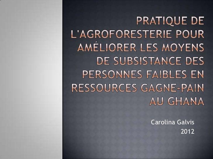 Carolina Galvis          2012