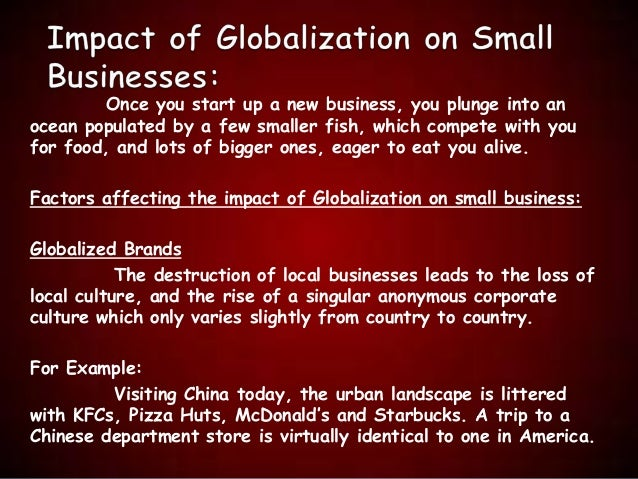 "impact of globalization on non western Globalization has clearly done a great deal for china  store, required no  previous experience the only requirements were ""western looks  sever the  political and cultural effects of globalization from the economic ones."