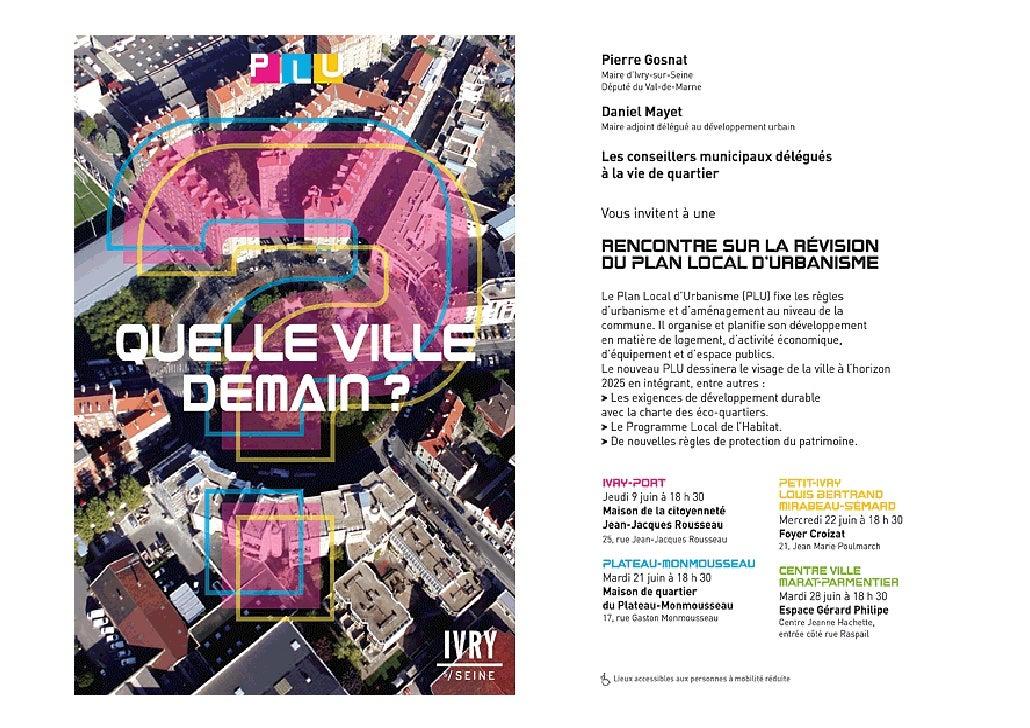 Sommaire Introduction : Qu'est-ce qu'un PLU ? (Plan Local d'Urbanisme)I - Rappel des orientations du PLU de 2004          ...