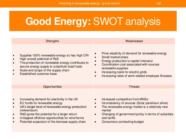 swot analysis for renewable energy Biomass energy competitor analysis, renewable energy competitor analysis, and geothermal energy competitor analysis services are available at infiniti market.