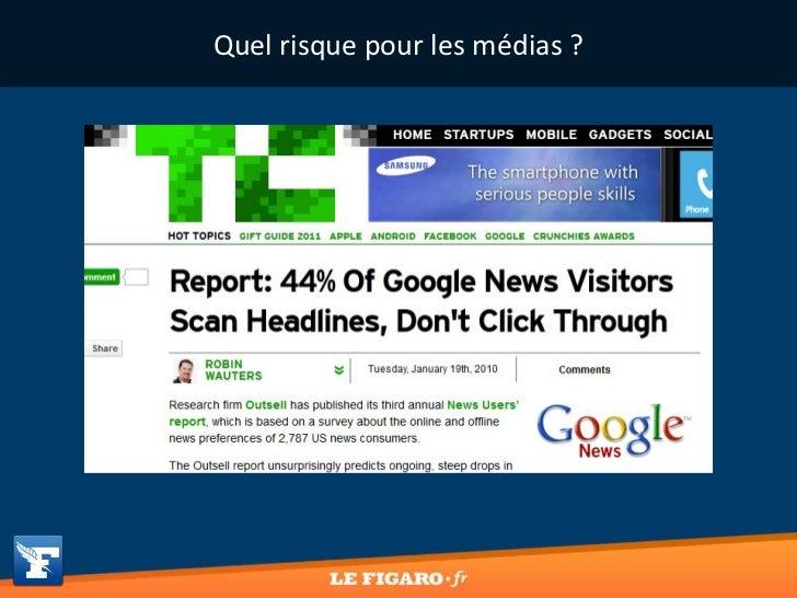 Quel risque pour les médias ?