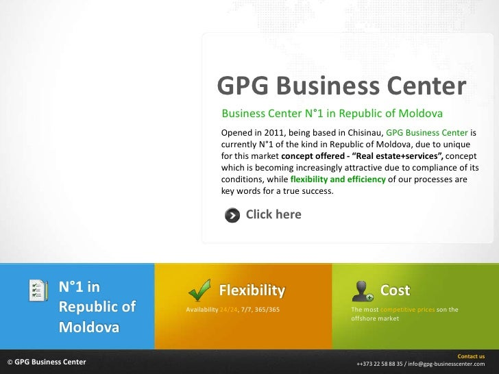 GPG Business Center                                       Business Center N°1 in Republic of Moldova                      ...