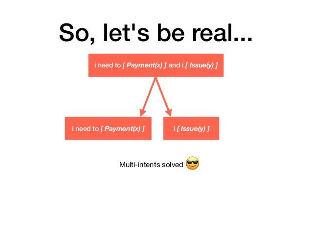 So, let's be real... i need to [ Payment(x) ] i [ Issue(y) ] i need to [ Payment(x) ] and i [ Issue(y) ] Multi-intents sol...