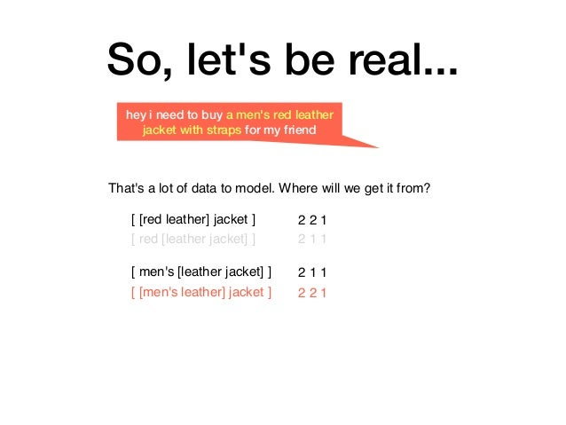 So, let's be real... hey i need to buy a men's red leather jacket with straps for my friend That's a lot of data to model....