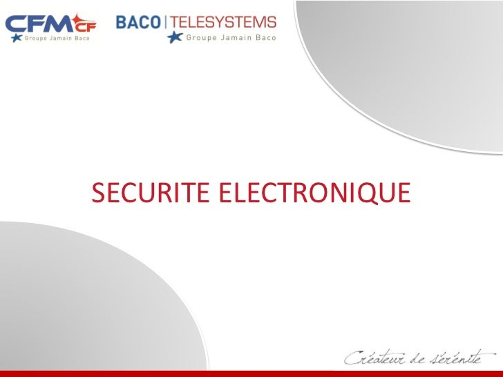 SECURITE ELECTRONIQUE