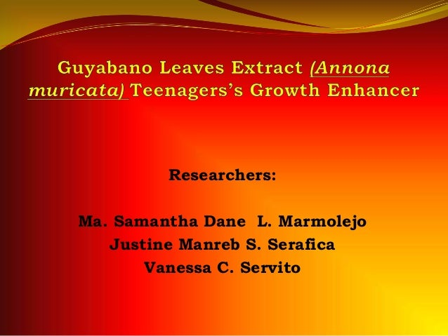 guyabano tea thesis
