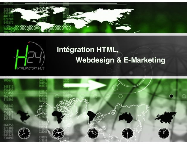 Intégration HTML,