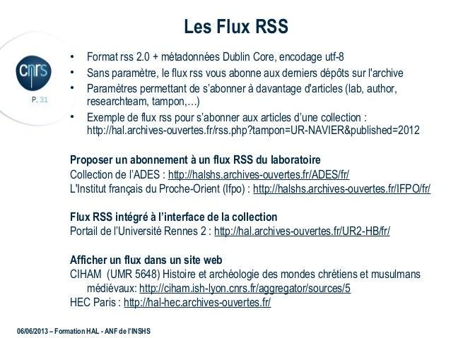 datation flux RSS