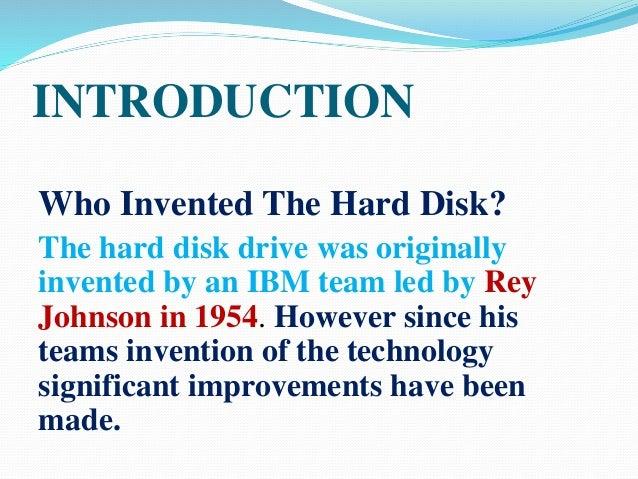 ppt hard disk drive