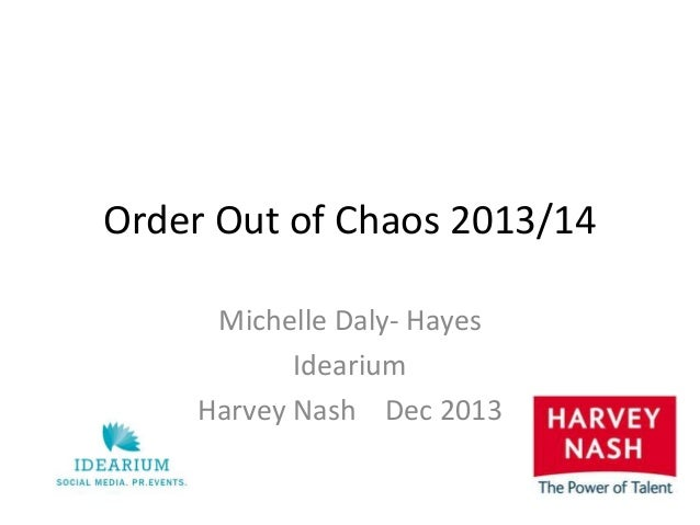 Order Out of Chaos 2013/14 Michelle Daly- Hayes Idearium Harvey Nash Dec 2013