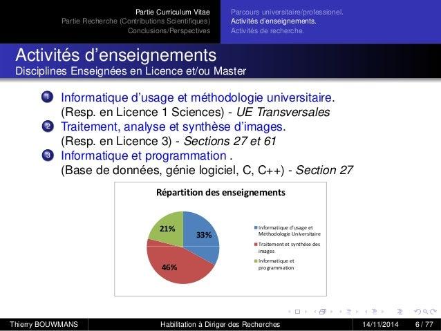 presentation habilitation  u00e0 diriger des recherches