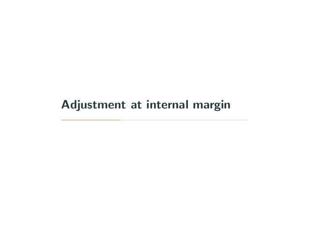 Adjustment at internal margin