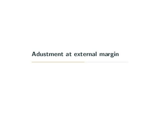 Adustment at external margin