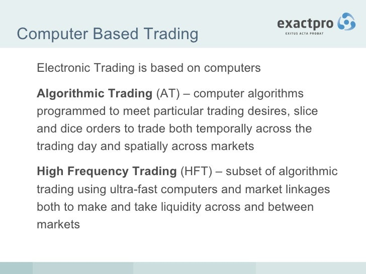 High frequency trading systems