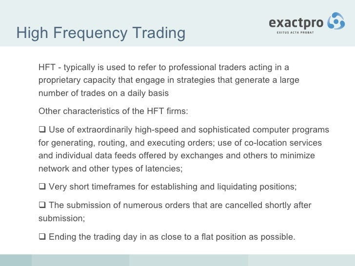 High frequency systematic trading