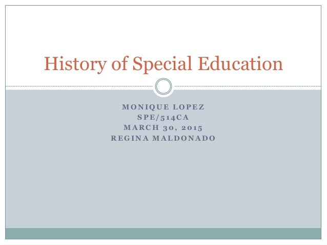 Presentation history of special education