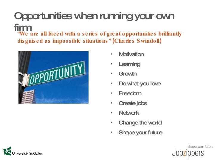 Opportunities, Risks and Responsibilities of Running your ... |Your Own Business Opportunities