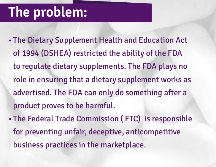 dietary supplement health and education act of 1994 dshea pdf