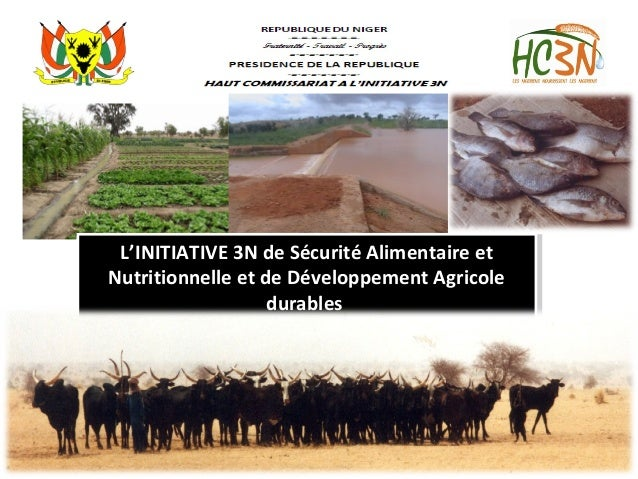 L'INITIATIVE 3N de Sécurité Alimentaire et Nutritionnelle et de Développement Agricole durables «Les Nigériens Nourrissent...