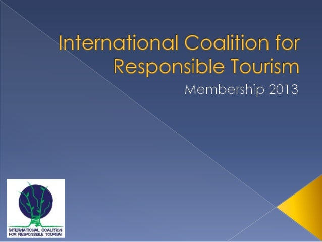  A global international network composed of public  & private stakeholders (NGOs, companies,  travellers, public authorit...