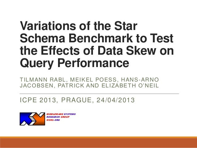 Variations of the Star Schema Benchmark to Test the Effects of Data Skew on Query Performance T IL M AN N R ABL , M EIKEL ...