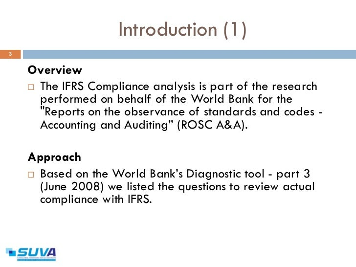 ifrs analysis Comparison of ias 39 and ifrs 9: the analysis of replacement 127 passed the bond can be classified in the ac or fvoci if the bond does not.