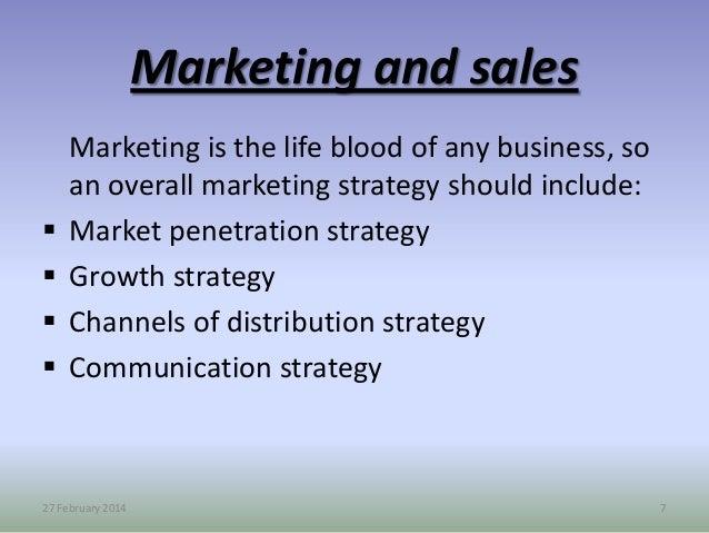 strategic sales plan examples