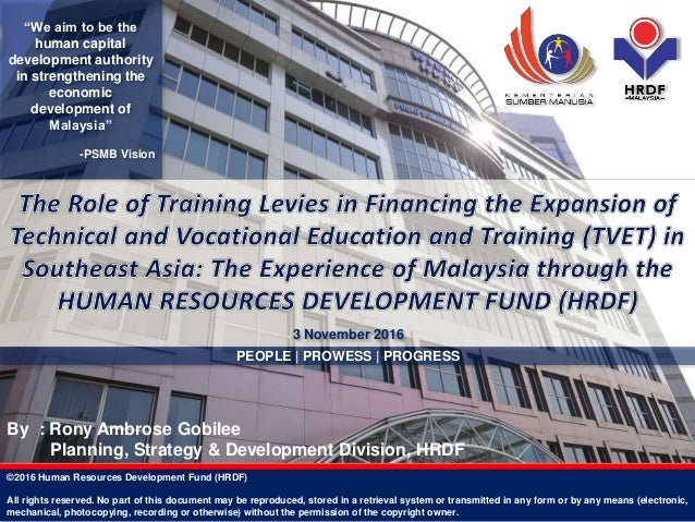 The Experience Of Malaysia Through The Human Resources Development Fu