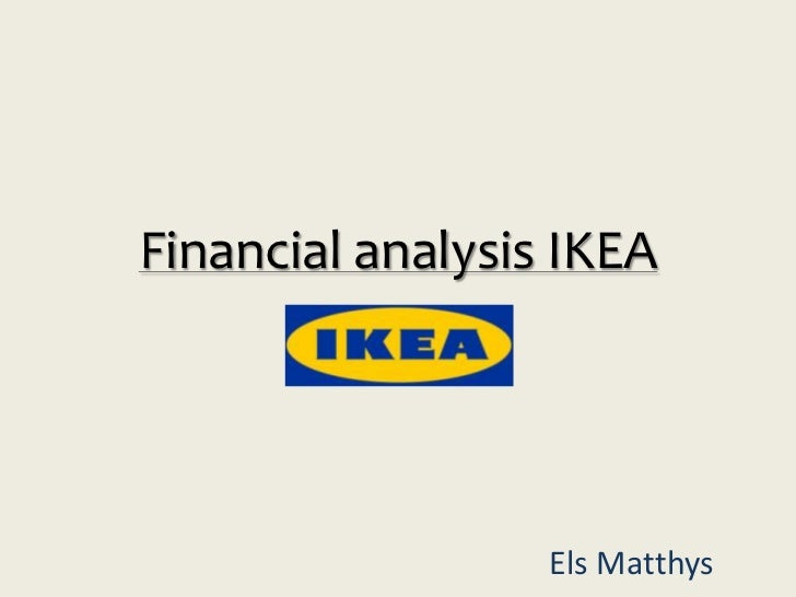 Financial analysis IKEA                  Els Matthys