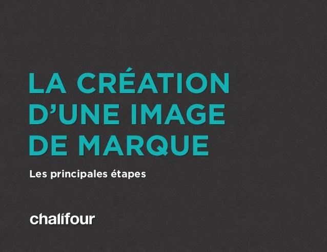 LA CRÉATION D'UNE IMAGE DE MARQUE Les principales étapes