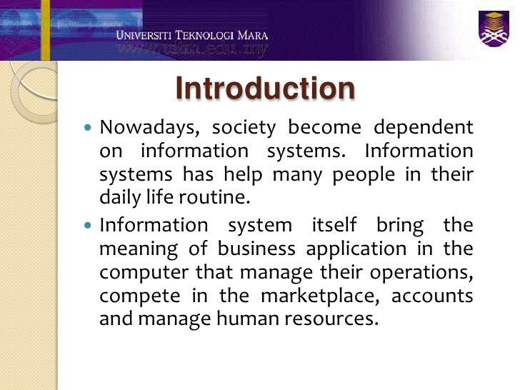 Definition of Information System