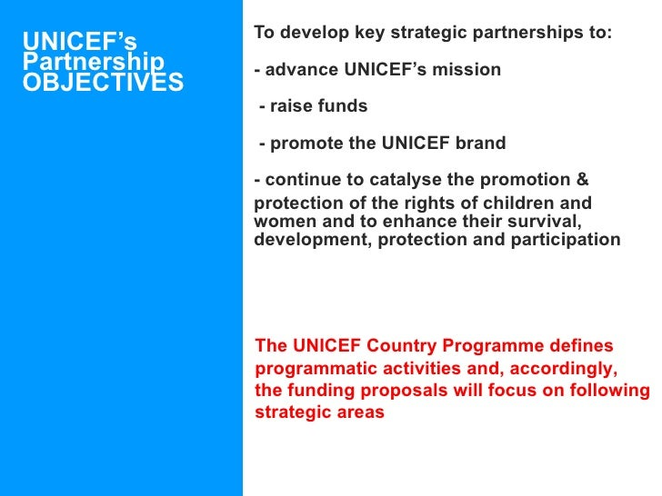 goals and objectives of unicef Use this workshop or lesson plan to introduce people to the global goals unicef youth  learning objectives  unicef ireland wants to support you to start a .