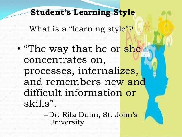 Learner Definition And Theories Of Learning Student S Learning Styl